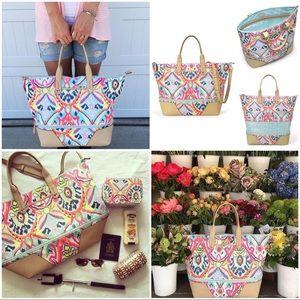 Stella & Dot Multi Ikat Get A Way Bag